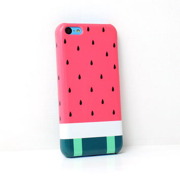 Watermelon Stripes iPhone Case For - iPhone 6 Plus Case - iPhone 6 Case -iPhone 5C Case - iPhone 5 Case - iPhone 4 Case