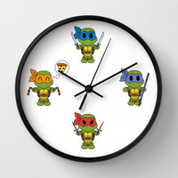 TMNT Chibis Wall Clock by Katie Simpson | Society6