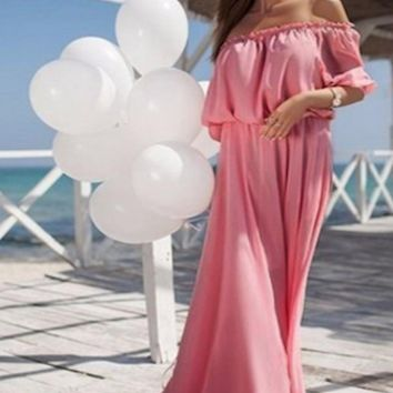 Sheer Maternity Gown Off Shoulder Photo Prop (Multiple Colors Available) - CCO42