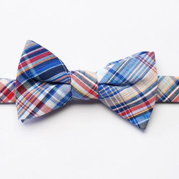 Bow Tie Tuesday Plaid Pretied Bow Tie - Men, Size: One Size (Blue)