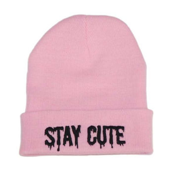 Stay Cute Logo Beanie