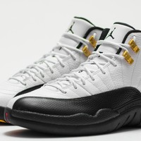 BC KUYOU Nike Air Jordan Retro 12 Taxi White Black Red 130690-125 Adult and GS PRE ORDER