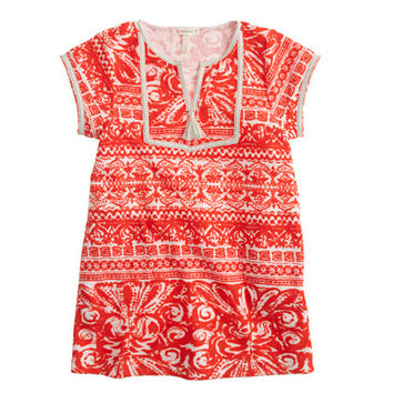 crewcuts Girls Terry Cloth Tassel Dress