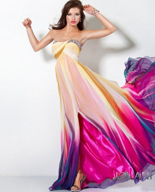 Multi-Color Prom Dress 3006