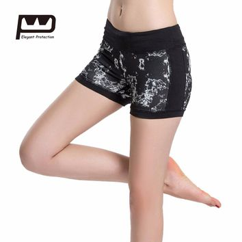New Women's Play Up Shorts Elasticity Comfortable Bottoms Reversible Printed Spandex Workout Running Shorts Fitness Tights 0079