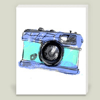 camera Wrapped Canvas Print by haroulita on BoomBoomPrints