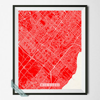 Mississauga Print, Canada Poster, Mississauga Poster, Mississauga Map, Canada Print, Ontario Poster, Street Map, Wall Art