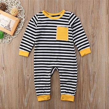 Girls and Boys Clothing  Fashion Newborn Kids Baby Boy Girl Matching Outfit Clothes Stripe Romper Girls Long Sleeve Dress