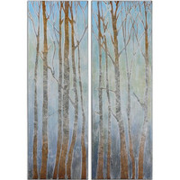 Uttermost Trees Of Winter Art Set/2 - 34265