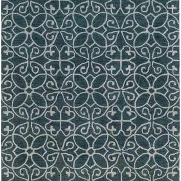 Surya Scott Medallions and Damask Blue SCT-1004 Area Rug