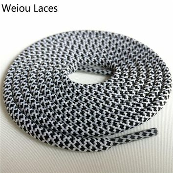 Weiou outdoor 4.5mm Hiking Boot Laces Polyester Rope Lacing Sports Running Shoestring Color Shoelaces For Basketball Shoes 350