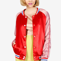 Cherry Bomb Baseball Jacket