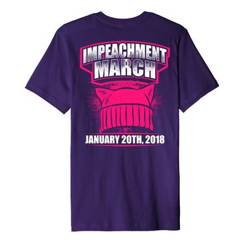 Impeachment March Shirt Pink Hat January 2018 Nasty Women