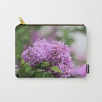 Lilac Bouquets Carry-All Pouch by Theresa Campbell D'August Art