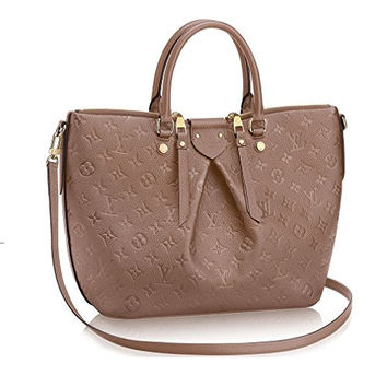 Authentic Louis Vuitton Mazarine MM Bag Handbag Article: M50710 Taupe Made in France