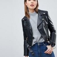 Ivyrevel Leather Look Biker Jacket at asos.com