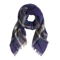 J.Crew Womens Wool Plaid Scarf