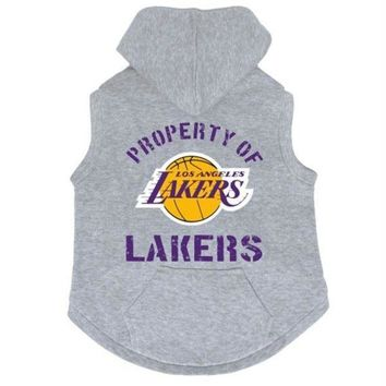 DCCKIV4 Los Angeles Lakers Pet Hoodie Sweatshirt