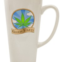 Green Party Symbol 16 Ounce Conical Latte Coffee Mug