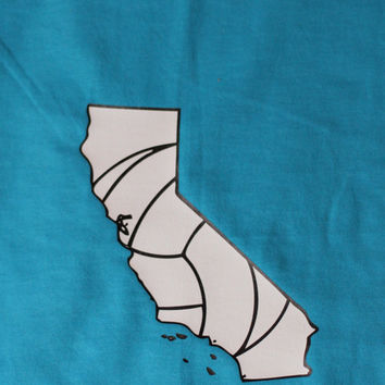 California Volleyball T-shirt- Vball Apparel, Sports Shirt - Cal Beach Volleyball