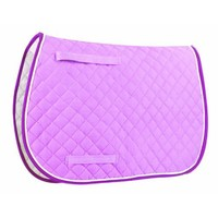 Perri's All Purpose Economy Saddle Pad, Pink/Dk Pink/White