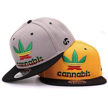 Quality  snapback cap with 3D leaf raised embroidery pop stylish hip hop cap and hat for men and women