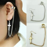 Pretty Cross Earrings Ear Cuff