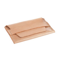 Women's leather wallet. Minimalist leather card holder.