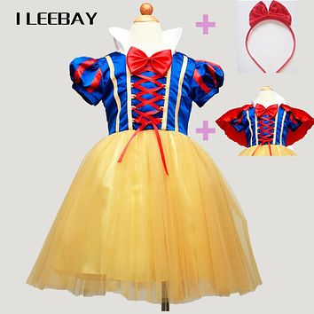 Christmas Baby Girl Snow White Dress+Red Cape+Hairpin Kids Princess Dress Children Party Cosplay Costume Toddler Clothes Vestido