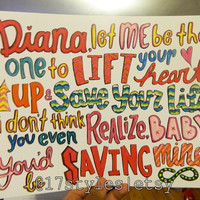 Diana  One Direction Lyrics by 17Styles on Etsy