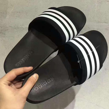 Adidas Stripe Casual Fashion Women Man Sandal Slipper Shoes H-PSXY