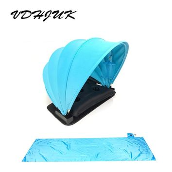 Portable Sunshade Sun protection Personal tent foldable Sun  Mini beach umbrella parasol with Pillow and Beach mat