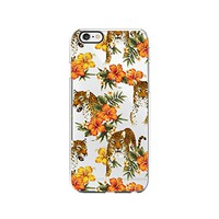 Cool Puma Tropical Pattern Transparent Silicone Plastic Phone Case for iphone 7 _ LOKIshop (iphone 7)