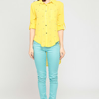 Gold Star Embellished Shirt