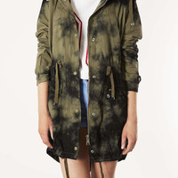 Tiedye Hooded Parka - Sale - Sale & Offers - Topshop USA