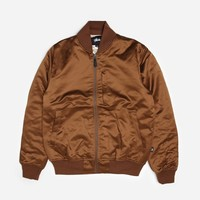 Stussy Emory Satin Bomber 115357 1044 | Bronze Jackets| Clothing - Naked