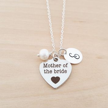 Mother of the Bride - Personalized Birthstone Sterling Silver Necklace