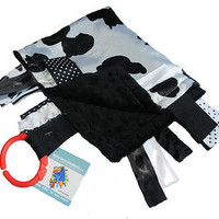 Baby Jack Blankets Satin Cow Spots Lovey