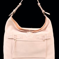 NEW VERSACE PALAZZO OVERSIZED SHOULDER BAG IN POWDER PINK DEER LEATHER