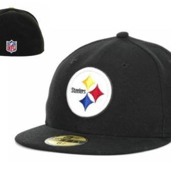 c4a7d73976b212 NWT Pittsburgh Steelers New Era NFL Youth On Field 59FIFTY Cap Hat 6 5/8