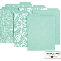 Martha Stewart Home Office™ with Avery™ Vertical File Folders Assorted Blue Patterns, 2 Tabs | Staples