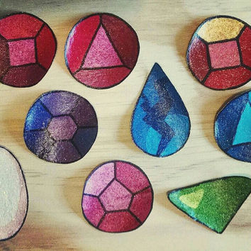 Steven Universe: 3 Small Gem Patches For 10 Dollars!