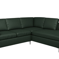 Leather Loveseat Chaise Sectional Couch with Twin Pullout Bed Soho