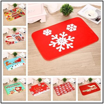 Living Room Carpet Christmas Anti-skid Floor Mat Print Mat 40*60CM [118173007897]