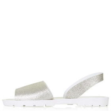HIP Slingback Jelly Shoes - Silver
