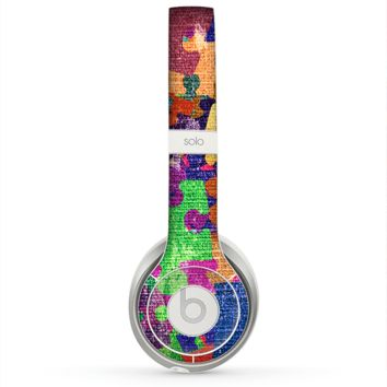 The Neon Colored Puzzle Pieces Skin for the Beats by Dre Solo 2 Headphones