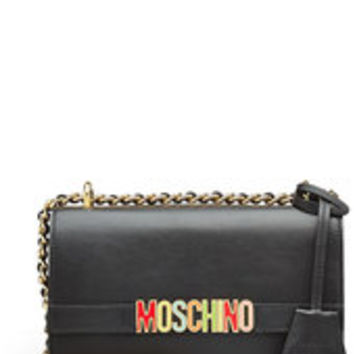 Logo Leather Shoulder Bag - Moschino | WOMEN | US STYLEBOP.COM