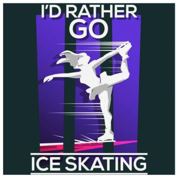 I'd Rather Go Ice Skating Ice Skater Gifts Canvas
