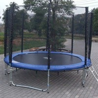 EXACME 12 FT Trampoline w/ safety pad & Enclosure Net & ladder ALL-IN-ONE COMBO
