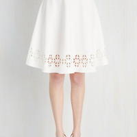 Mid-length Full Geo Rising Skirt by ModCloth
